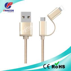 2 в 1 USB кабель для зарядки iPhone передача данных