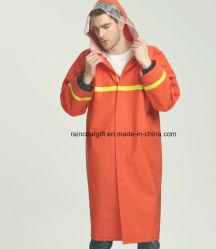 고가시성 반사 안전 PVC 폴리에스테르 PVC 레인 코트