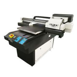 Los plásticos PVC Cuero Metal acrílico UV Impresora digital de superficie plana de madera para USB/vidrio/Pen/CD