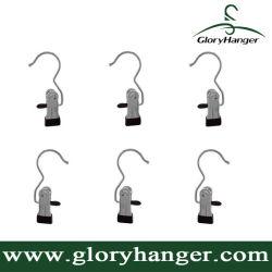 Crochet de blanchisserie Portable, bottes Hanger clips en attente