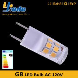 세라믹 G8 LED 전구 120V 2W LED 전구