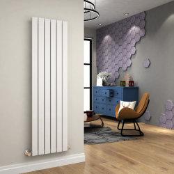 Sally 530X1600mm Blanc radiateurs de chauffage central vertical avec une seule colonne à écran plat de haut en position verticale pour la maison de conception/Salle de bains/chambre/Cuisine/Salle de séjour