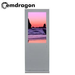 43 인치 가벼운 상자 영상 광고를 광고하는 토템 스크린 텔레비젼 LED 디지털 Signage를 광고하는 공냉식 수직 스크린 지면 옥외 광고 기계