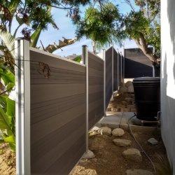Design personnalisé vert jardin extérieur WPC clôture en bois composite