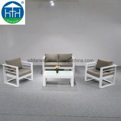 Jardin extérieur moderne canapé salon avec coussin d'aluminium