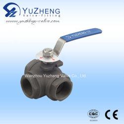 탄소강 고압 3방향 플랜지 플로트 볼 밸브