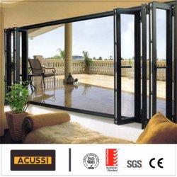 Сшитые угол высококачественный алюминиевый складные двери с Австралией стандарт
