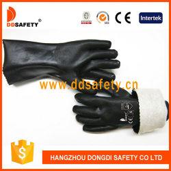 Новая конструкция Черная ПВХ ближний свет дешевые хлопка водонепроницаемые перчатки