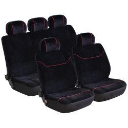 dichter Samt 9PCS/Set und einzelnes Ineinander greifen Wellfit Auto-Sitzdeckel-Set