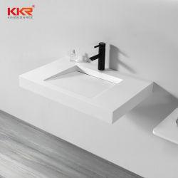 Salle de bains luxueuse salle de bains Articles sanitaires mur accroché vanité Surface solide décoratifs Salle de Bain lavabo