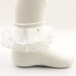 Olhal Baby-Girls de alta qualidade Frilly Lace Meias/bebê recém-nascido/Toddler/Meninas meias