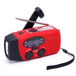 De draagbare Radio Handcrank van de Noodsituatie van het Flitslicht van de Generator van de FM Mini Radio Radio