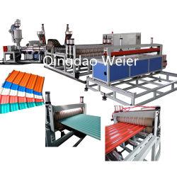 PVC-Fliese, die Maschine herstellt /PVC-Welle Dachblech Extrusionslinie