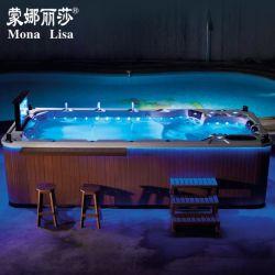 Endloser Swimmingpool mit Jacuzzi BADEKURORT MassageSwim BADEKURORT M-3370