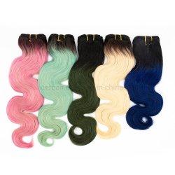 Gerade natürliche Jungfrau-brasilianische indische Haar-Bündel-Haar-Webart mit Schliessen-Menschenhaar-Webart mit Schliessen färben
