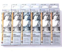 7 pouces de qualité supérieure jaune en bois Hb Crayon avec gomme avec FR71, les certificats de FSC