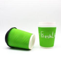 Устойчивого Eco-Packaging тройной стене кривой чашки кофе бумаги