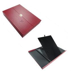 Joyas de plástico de estilo Double-Door personalizado Collar de ajuste de la caja de regalo papel de piel sintética Embalaje almacenamiento
