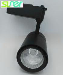 قابل للتعديل عرنوس الذرة سقف مصباح كشّاف أسود [لد] أثر ضوء [30و] طبيعة أبيض