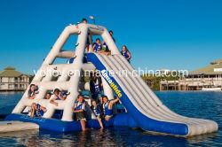 Selva inflables Joe subida de una escalera tobogán de agua para flotar Parque Acuático