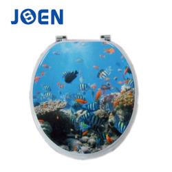 海洋動物デザインMDFによって形成される便座カバー