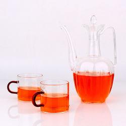 Insiemi di vetro di vendita caldi del POT del tè con la tazza per articoli per la tavola