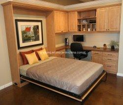 Ahorro de espacio de montaje en pared cama Murphy combinación para muebles Hotel