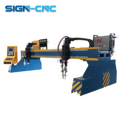Tagliatrice del piatto d'acciaio della tagliatrice del plasma di CNC del cavalletto grande