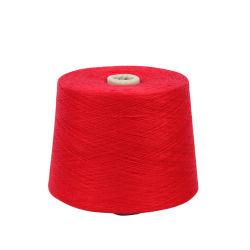 Garen 40s/2 van de Polyester van 100% het Ruwe Witte Ring Gesponnen