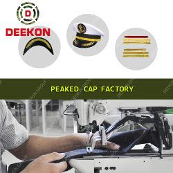 Gorra de alta calidad para la policía de suministro de fábrica del Ejército