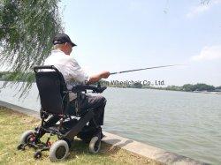 Dobrar a pilhas cadeira de rodas motorizada Modelo Dyn30UM com pneu sólido
