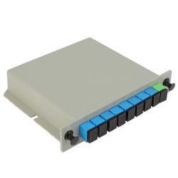 Divisor Óptico del PLC de Fibra del SC APC UPC de 1 a 8 ABS