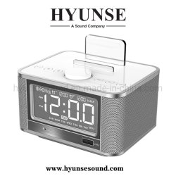 Mini radio FM reloj despertador de manos libres inalámbrico LCD LED Pantalla Cargador USB altavoz Bluetooth