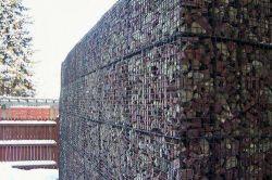 Soldado decorativas de malha de metal do tipo Stone Gabião Cage para parede de retenção