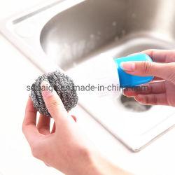 Vielzweckhaushalts-Edelstahl-Wäscher-Spirale-Reinigungsapparat-Pinsel mit Griff
