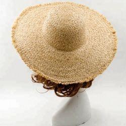 Custom природных Raffia органа соломы оплетка Sun Red Hat