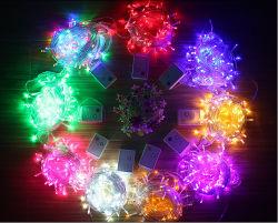OEM décoratifs d'éclairage LED lumière LED recouvert de plastique transparent de chaîne du câble de cuivre lanterne de Noël de la lampe sur le fil en caoutchouc