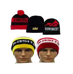 L'abitudine acrilica del jacquard promozionale ha lavorato a maglia il Beanie di sport del cappello lavorato a maglia il gioco del calcio di sport di inverno dell'acrilico del Beanie 100% (JM-MZ)