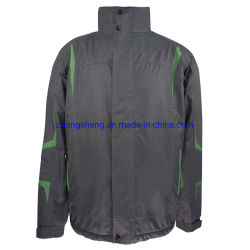 남자의 옥외 방수 폴리에스테 Microfiber 겨울에 의하여 덧대지는 겉옷 재킷