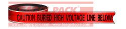 A linha de alta tensão de aviso detectável Tape
