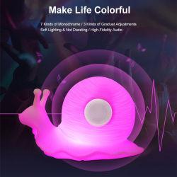 LED intelligent de lumière colorée de l'escargot de dessin animé sonore de musique Bluetooth Night Light Portable lampe de nuit avec télécommande et une lumière douce Model-B