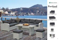 Aluminium mit Weidenprüftisch-Stuhl-Tisch, Patio-Möbel-im Freiengarten-Möbel-Set