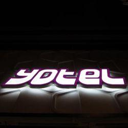편지 표시에 의하여 분명히되는 벽 3D LED 채널 워드 표시를 광고하는 옆 Lit 아크릴