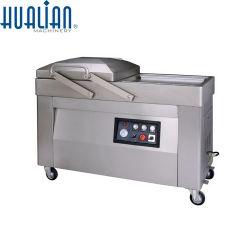 Hvc-510s/2A Hualian Hualian automatische Dichtungs-Maschinen-Beutel-Nahrungsmittelfleisch-Fisch-Reis-Frucht-Gemüse-Doppelt-Raum-Kissen-Vakuumabdichtmasse