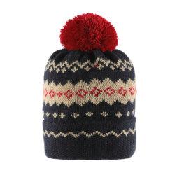 겨울 혼합 색깔 과료 늑골 뜨개질을 하는 자동 고사포 베레모 모자
