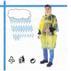 معطف مطر شفاف قابل للاستخدام مرة واحدة وطراز PE مقاوم للمياه للاستخدام الترويجي