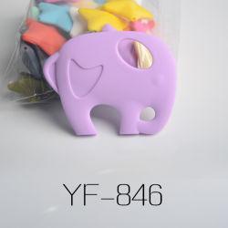 음식 등급 매스티블 코끼리 모양 실리콘 YF-846 유아용 테더