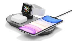 Nuovi 3 in 1 caricatore senza fili del caricatore 15W Qi per Iwatch per Airpods per la serie di iPhone