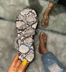 Señoras plana Zapatillas de verano, caliente la venta de zapatillas para mujer, la mayor fábrica de zapatillas