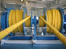 El doble de UHMWPE sintético trenzado (HMPE) cuerda utilizado en el malacate, marinas, remolque y las eslingas